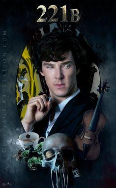Sherlock by CeciliaGf on DeviantArt Sherlock Bbc, Sherlock Holmes Series, Sherlock Poster, Sherlock Holmes Benedict Cumberbatch, Sherlock Fandom, Benedict Cumberbatch Sherlock, Sherlock Anime, Watson Sherlock, Jim Moriarty