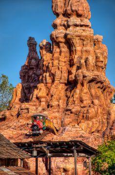 The wildest ride in the wilderness! Thunder Mountain Railroad, Disneyland