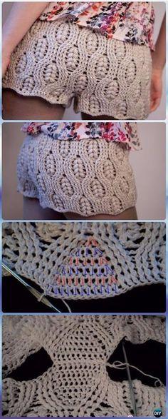 Crochet Wheat Stitch Summer Shorts Free Pattern