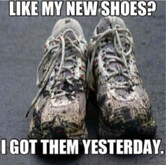 This is what my shoes looked like after today's race....