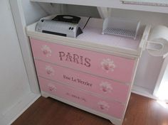 French Changing Table Makeover