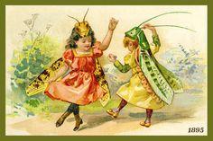 Olde America Antiques | Quilt Blocks | National Parks | Bozeman Montana : Fantasy - Children Grasshoppers