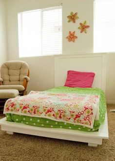 White Twin Platform Bed | Do It Yourself Home Projects from Ana White