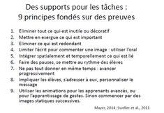 supports des tâches Mayer 2014