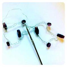 How to crochet a wire bracelet