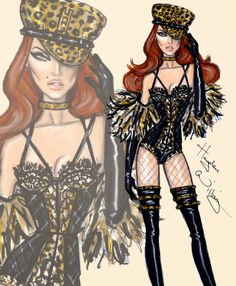#Hayden Williams Fashion Illustrations #'Feline Fierce' by Hayden Williams
