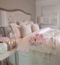 30 Cozy Romantic Bedroom Design Ideas For Comfortable Bedding bedroomdecor bedroomideas bedroomdesign Cozy Bedroom, Trendy Bedroom, Dream Bedroom, Home Decor Bedroom, Girls Bedroom, Shabby Bedroom, White Bedroom, Modern Bedroom, Pink Vintage Bedroom