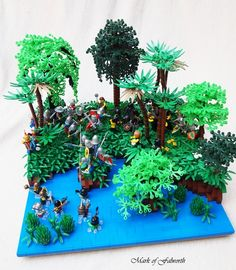 LCC-Loreos, A Struggle in the Swamp.: A LEGO® creation by Mark Erickson : MOCpages.com