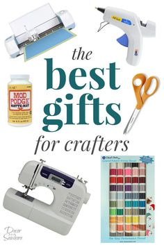 Finally, a gift guide for crafters! Check out this ultimate list of the BEST gifts for crafters to get some ideas for the crafter on your list! | decorbytheseashore.com