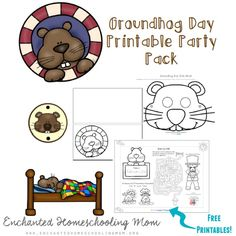 Get ready for your Groundhog Day Party with these fun FREE printables! Preschool Groundhog, Groundhog Day Activities, Fun Activities, Winter Fun, Winter Theme, Kid Printables, Library Lesson Plans, February Baby, Ground Hog