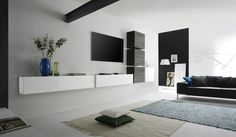 Living room wall ideas Living room without wall unit - ideas and alternatives to the wall unit Livin Living Room Modern, Interior Design Examples, Home Decor, Living Room Wall Units, Living Room Wall, Living Room Grey, Modern Furniture Living Room, Interior Design Living Room, Wall Unit