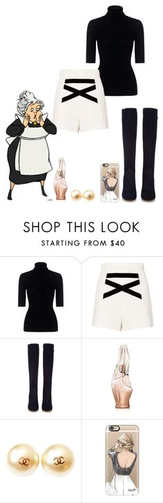 """Nanny"" by kimmmeo ❤ liked on Polyvore featuring Theory, Alexis, Gianvito Rossi, Donna Karan, Chanel and Casetify"