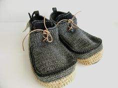 ~ wool + leather slippers ~