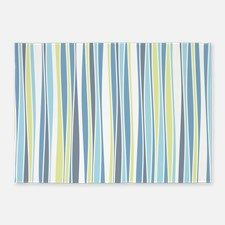Wavy Stripes 5'x7'Area Rug for