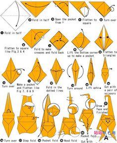 origami monkey 1