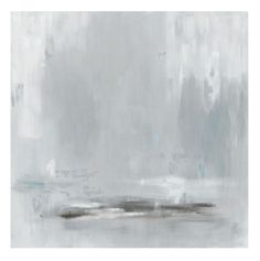 Neutral grays are blended to create this peaceful, tranquil landscape. Evoking a pensive and introspective mood this painting is sure to have a quiet but strong presence in your home. This is an unfra