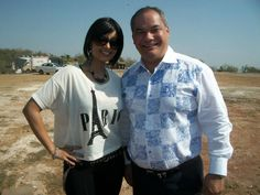 Aiysha Saagar - Gold Coast Ambassador with Mayor Tom Tate