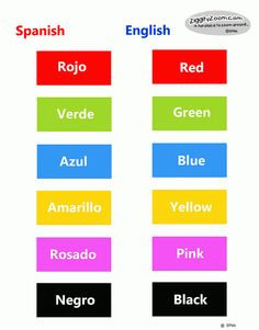 Spanish English printable match game. Great for helping children learn colors in English and Spansh. ESL resources for young children.