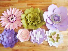 Set of 7 Flowers  Paper Flowers  Paper от DreamEventsinPaper