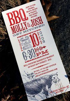 Great BBQ Invite  http://www.invitationcrush.com/wp-content/uploads/2011/01/bbq-rehearsal-dinner-invitations.jpg