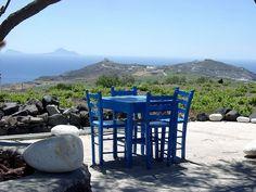 Café in Akrotiri, #Santorini Island, #Greece