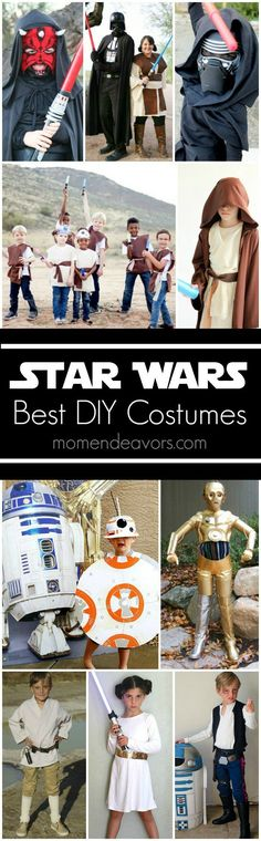 Best DIY Star Wars Halloween Costumes - great Star Wars costumes for Star Wars fans! Halloween Costumes Pictures, Star Wars Halloween Costumes, Creative Halloween Costumes, Diy Halloween Costumes, Costume Ideas, Halloween Party, Homemade Halloween, Halloween 2017, Halloween Crafts