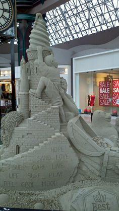 Cool sandcastle Sand Sculptures, Sand Art, Beach Photos, Combat Boots, Clay, Children, Clays, Young Children, Boys