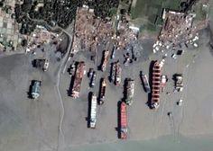Ships at Sitakunda ship breaking yard in Bangladesh Ship Breaking, Abandoned Ships, Sea And Ocean, Water Crafts, Asia Travel, Mysterious Things, Space Story, Graveyards, Urban
