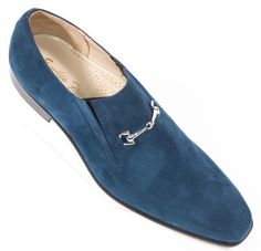 #Zapatos Emilio Franco Blue Suede Slip On #Shoes #Footwear