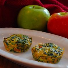 Crustless Spinach Quiche *Breakfast to Go*  Recipe by ASHLEYINFL via @SparkPeople