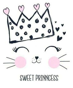 Find Sweet Princess Girl Hand Drawing Illustration stock images in HD and millions of other royalty-free stock photos, illustrations and vectors in the Shutterstock collection. Image Deco, Girls Hand, Cat Birthday, Cat Party, Hand Art, Kids Prints, Cute Illustration, Art Illustrations, Cute Art
