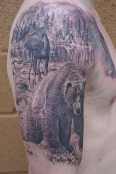 Would like something like this with a bison in the background instead.