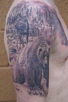 very nice bear tattoo