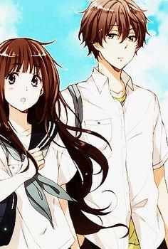 Chitanda and Oreki (older version) ~Hyouka Anime Couples Manga, Cute Anime Couples, Manga Anime, Anime Art, Cute Couple Art, Anime Love Couple, I Love Anime, Hyouka Chitanda, Kyoto Animation