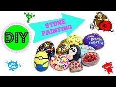Hey Guys, Give this video a big thumbs up! Here, I am sharing 5 different styles of painting stones/rocks. Dot Painting, Stone Painting, Painting Frames, Painting Styles, Fun Crafts, Crafts For Kids, Arts And Crafts, Hand Painted Rocks, Painted Bricks