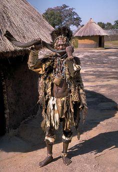 Shona witch doctor, Zimbabwe. ANTHROPOLOGY AND ETHNOLOGY