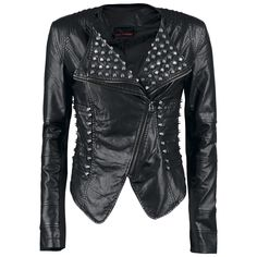 $173 Giacca in pelle con borchie, Queen Of Darkness (129,99€)