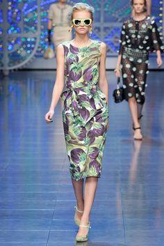 Dolce & Gabbana Spring 2012 Ready-to-Wear Collection Photos - Vogue Fashion 2020, Runway Fashion, Spring Fashion, High Fashion, Fashion Beauty, Fashion Show, Fashion Looks, Fashion Design, Fashion Gallery