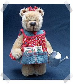My handmade toys: Bear in a dress - a toy. A pattern.