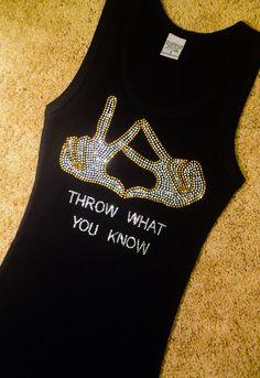 Kappa Alpha Theta Throw What You Know Hand Sign Rhinestone Crystal bling shirt, Alumna, Sorority bling shirt, Theta women Custom Theta shirt on Etsy, $24.99