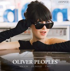 Just when I thought that I couldn't love her anymore... (Zooey Deschanel for Oliver Peoples)