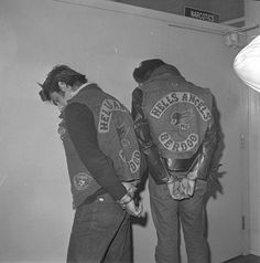 #hellsangels is a motorcycle gang they wear a vest with hellsangels on them