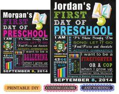 Last day or First day of school sign, kindergarten, preschool, 1st 2nd grade