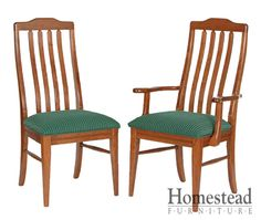 Shaker #302 Dining Chairs by Homestead Furniture made in Amish Country.