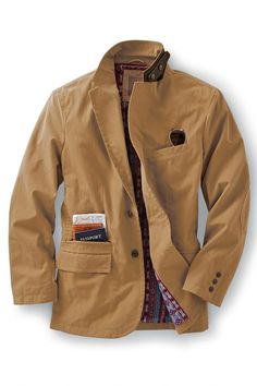 Cool and stylish sport coat blazer for men. Guys, add this jacket to casual outfits or formal looks this summer & fall. Mens Travel Jacket, Unique Outfits, Stylish Outfits, Sweater Jacket, Blazer Jacket, Ladies Hooded Coats, Country Wear, Gentleman Style, Preppy Style