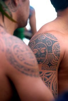Polynesian tattoos are full of symbolic meaning and vary from an island to another. Would you ever get one done here? Credit: F Charreard