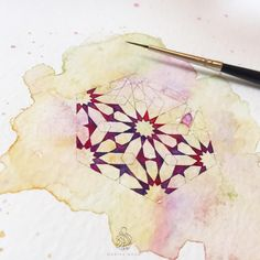 I have seen the movement of the sinews of the sky. And the blood coursing in the veins of the moon. - Iqbal ♥️ #wip #miniature #islamicgeometry #maaidanoor