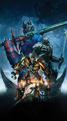 Another poster for Transformers: The Last Knight has surfaced online. The poster features new poses for Optimus Prime, Bumblebee and Megatron behind Transformers Decepticons, Transformers Bumblebee, Transformers Optimus Prime, Transformers Characters, Marduk Band, Live Action, Transformers Collection, Michael Bay, Last Knights