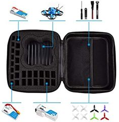 Lorchwise Drone Carrying Case,Waterproof and Shockproof Hard Shell Storage Bag Box,Carrying Case Portable Hand Bag for Mavic Mini Drone 3 Batteries Accessories