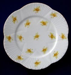 Plate Shelley Yellow Rosebud Dainty Chintz Salad Cake Rarely Seen 1930 – Antiques And Teacups